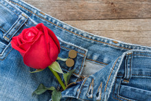 Red Rose And Jeans