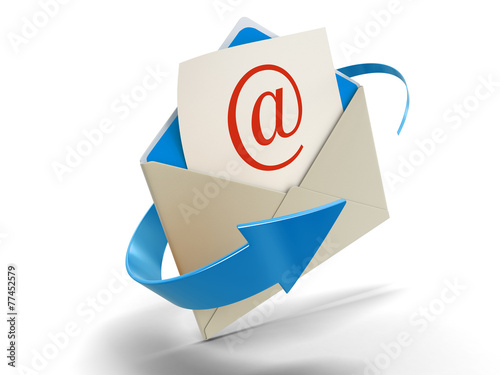 Fotografía  Letter E-mail (clipping path included)