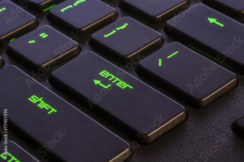 keyboard green enter Poster