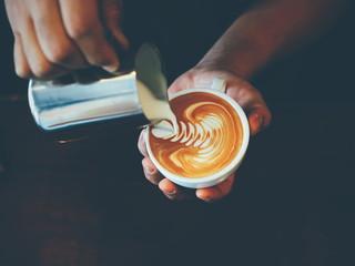 Fototapeta latte art