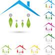Logo, Immobilien, Haus, Menschen