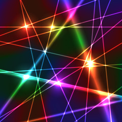 FototapetaRainbow Laser Background
