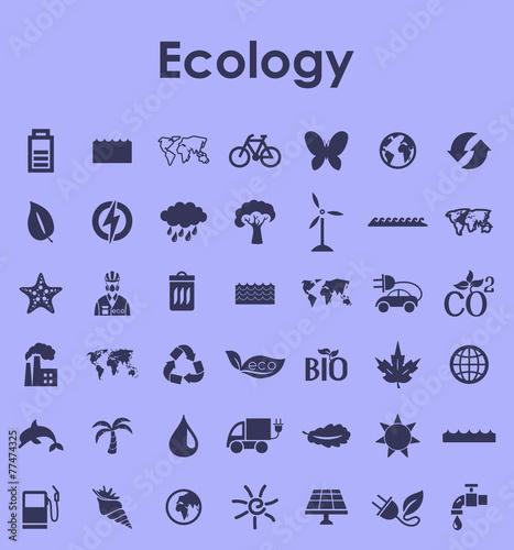 Fototapeta Set of ecology simple icons obraz na płótnie