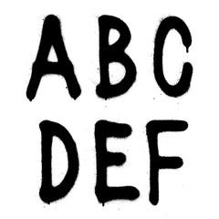Hand written graffiti font type alphabet. Vector (part 1)