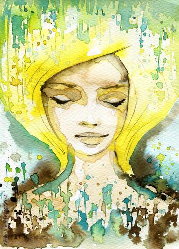 Fototapety, obrazy: gold woman