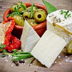 Panel Szklany Do baru Käse und Oliven