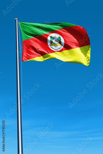 Fotografie, Obraz  Rio Grande do Sul (Brazil) flag waving on the wind