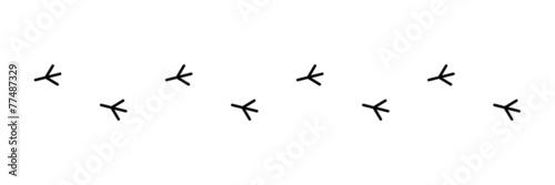 Fotomural Vogelspur, Vektor, schwarz, freigestellt