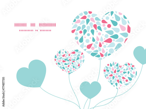 Poster Abstract bloemen Vector abstract colorful drops heart symbol frame pattern