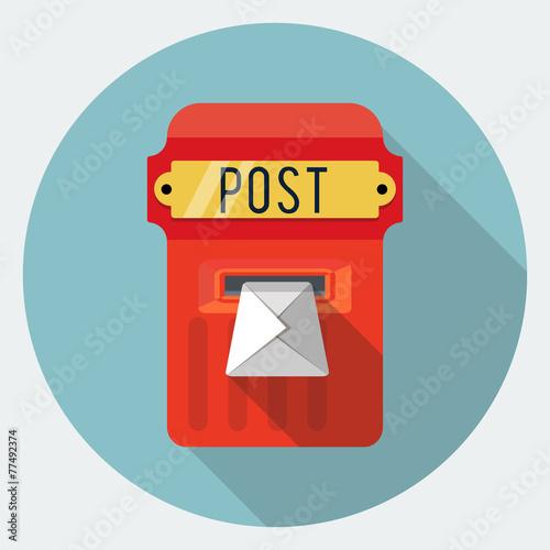 Obraz na plátně Vector postbox icon