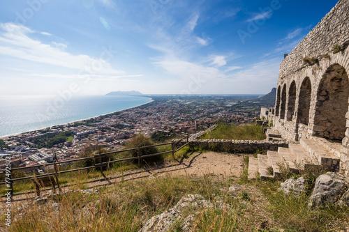 Valokuvatapetti ancient temple in Terracina, Lazio, Italy