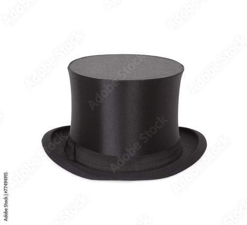 Foto Alte Zylinder. Black top hat on white