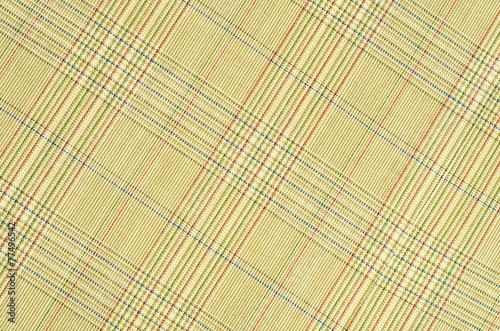 Photo  Brown guncheck pattern fabric. Rhombus tartan design background.