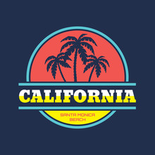 California Santa Monica - Vect...