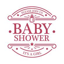 Baby Shower Girl Emblem