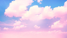 Blue Sky Background With Pink ...