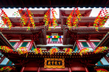 The Roof Of The Buddha Tooth Relic Temple In Singapore