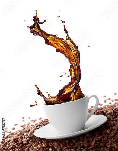 splashing coffee #77520737