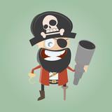 pirat abenteuer fernglas cartoon comic