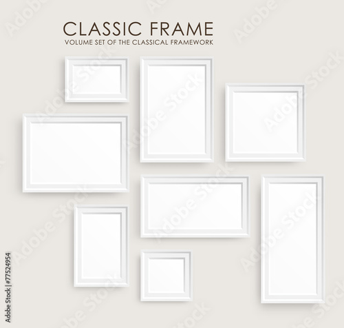Fotografía  Realistic picture frames. Perfect for your presentations.