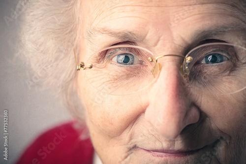 Fotografie, Obraz  A cute grandma