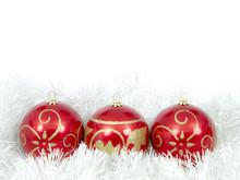 Christmas Balls Red Trio