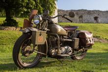 Vintage WWII US Army Motorcycle