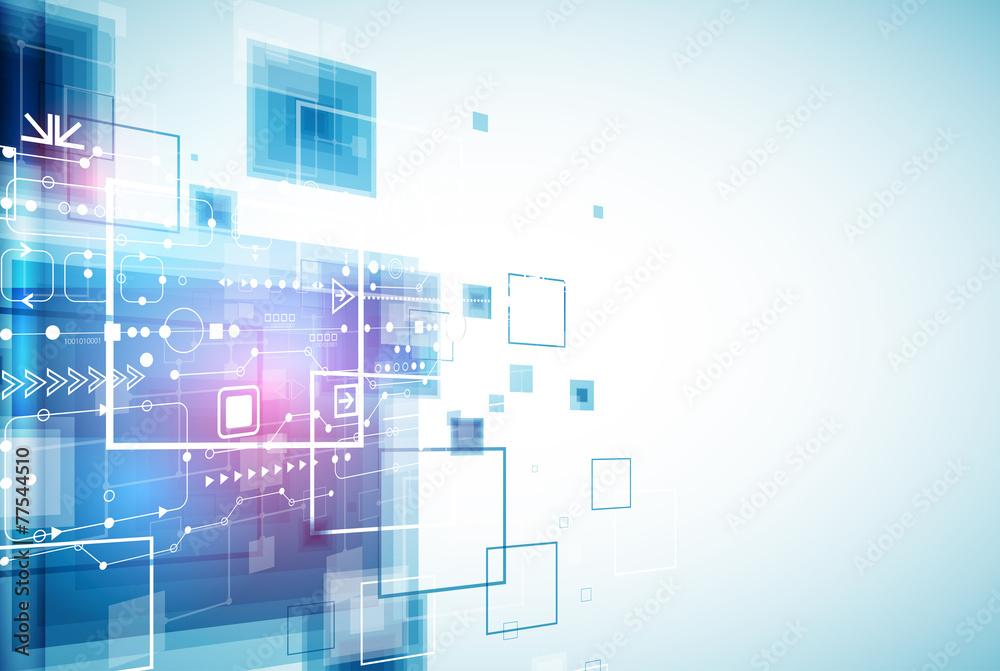 Fototapeta Abstract engineering future technology background