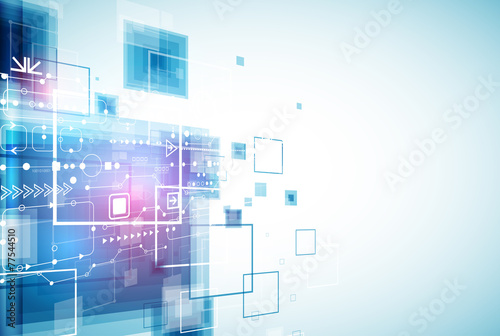 Fotografía  Abstract engineering future technology background