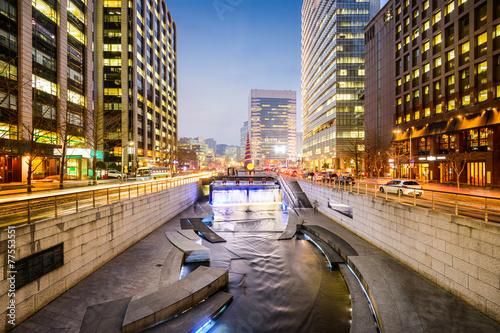 Photo sur Aluminium Seoul Seoul, South Korea Stream Cityscape