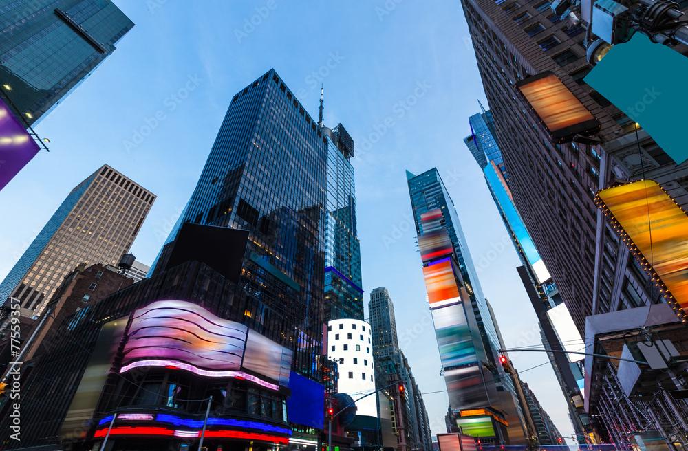 Fototapety, obrazy: Times Square Manhattan New York deleted ads