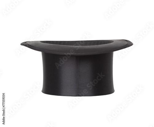 Alte Zylinder. Black top hat on white Fototapete