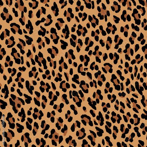 Carta da parati Seamless leopard pattern