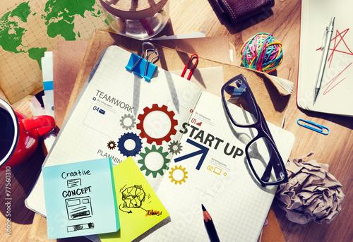 Fototapeta Startup New Business Plan Strategy Teamwork Concept obraz na płótnie
