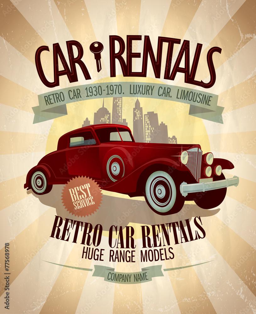 Projekt wynajmu samochodów retro.