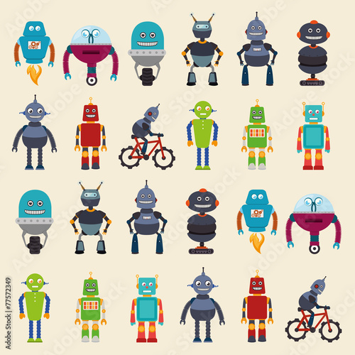 Photo  robot design, vector illustration