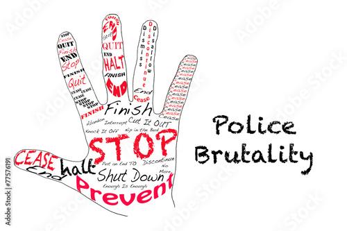 Fototapeta Stop Police Brutality