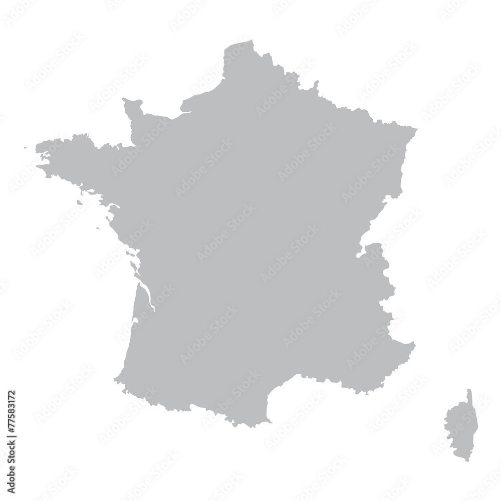 Fototapeta grey map of France