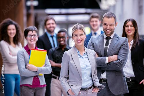 Obraz business poeple group - fototapety do salonu