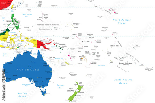 Photo Oceania map