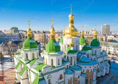 Foto op Plexiglas Kiev Saint Sophia Cathedral in Kiev at winter