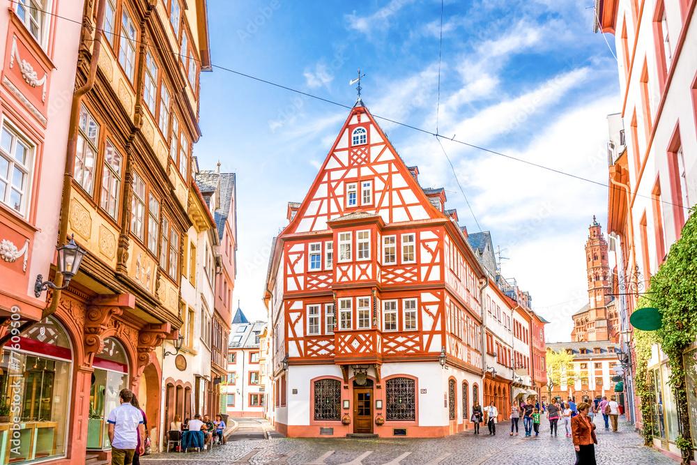 Fototapety, obrazy: Historisches Mainz Blick auf den Dom