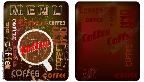 coffee menu template free space for your text buy this stock