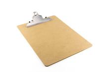 Empty Clip Board With Metal Clip