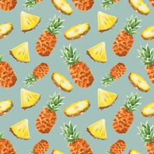 Watercolor Pineapple Pattern