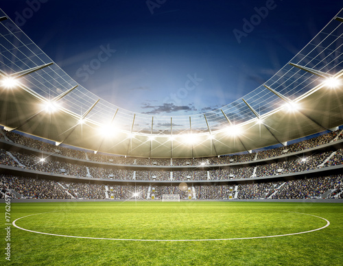 Obraz Stadion Neutral Mittellinie - fototapety do salonu