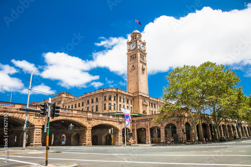 obraz PCV Sydney central railway statio clock tower, Australia