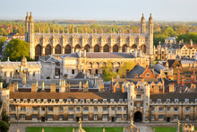 View Of Cambridge With Historical Buildings (University Colleges)
