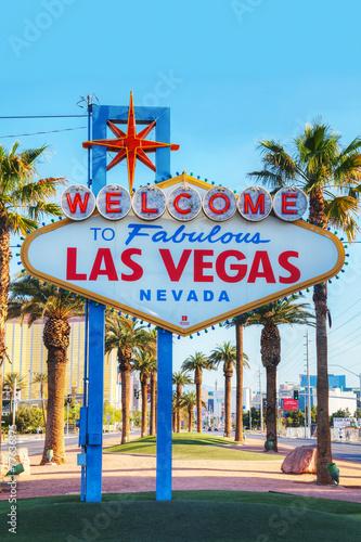 Tuinposter Las Vegas Welcome to Fabulous Las Vegas sign