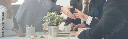 Fotomural  Handshake on a business meeting
